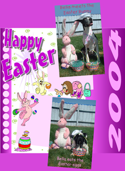 Easter with Great Dane