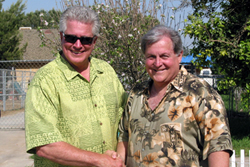 Huell Howser and Burt
