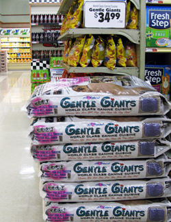Gentle Giants dog food in Stater Bros.